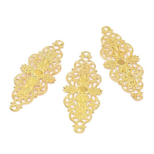10/50 Biegsame Metallornamente Goldfarben 63mm