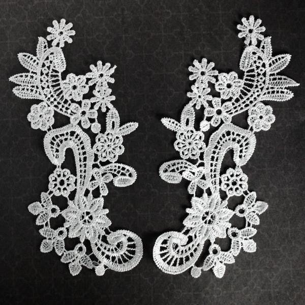 Applikation Floral S Weiß Paar