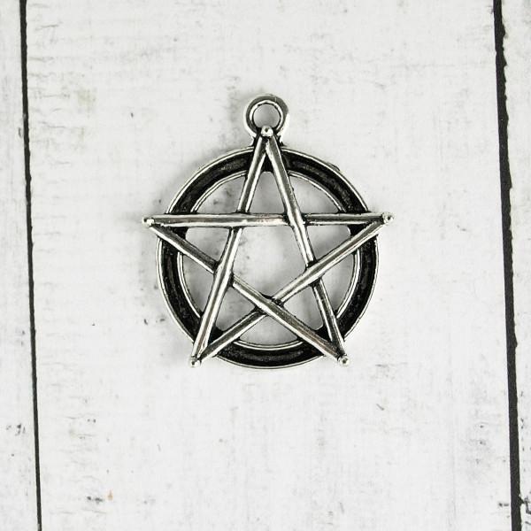 Pentagramm Anhänger kaufen Modeschmuck Gothic einzeln