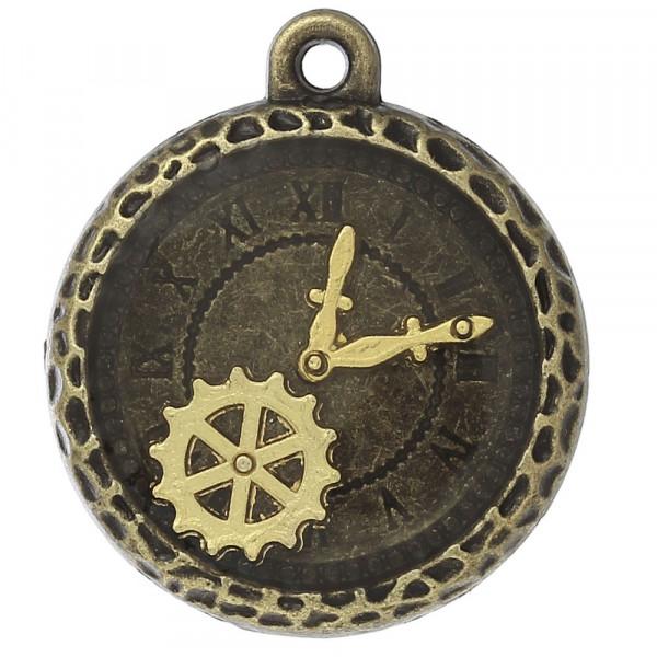 anhänger, schmuck, kette, altmessing, bastelmaterial, altmessing, uhr, gold, resin, harz, steampunk