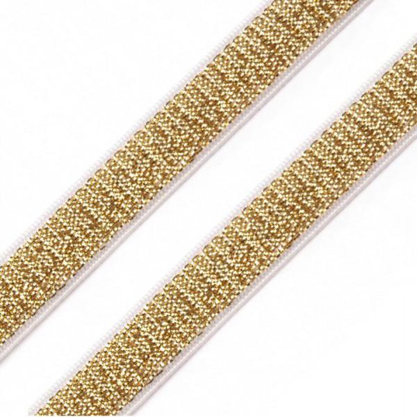 Gummiband Weich Glitzer Gold 10mm