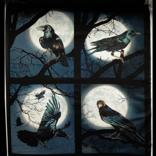 "Baumwollstoff ""Darkest Sky"" Panel Blau"