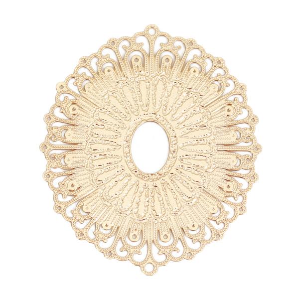 Filigree Verbinder goldfarben Oval 34mm