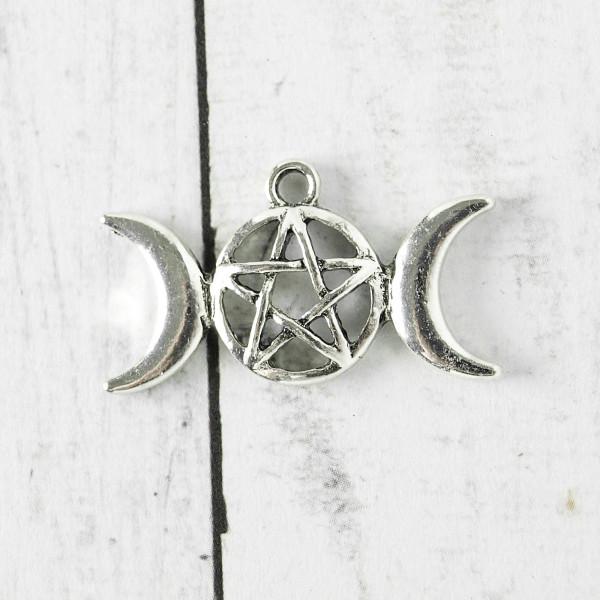 mond sichel pentagramm anhänger charm schmuck basteln kaufen gothic