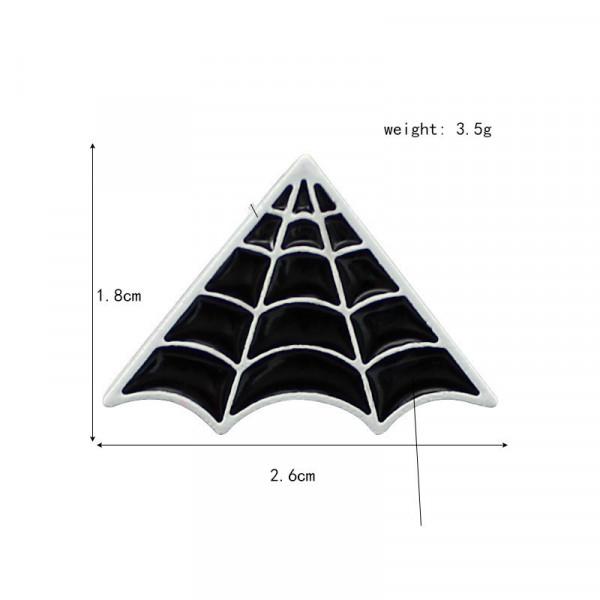 Spinnenetz Pin Brosche 26mm
