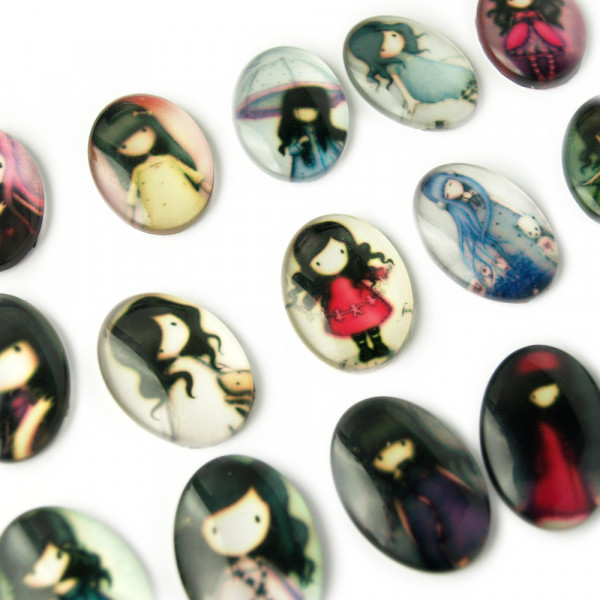 melancholy girl gothic cameo kamee