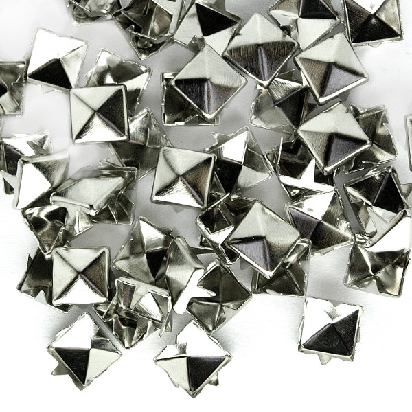 Nieten Pyramidennieten Silber 8mm 50 100 1000 Stück