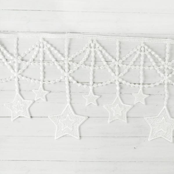 Borte Sterne weiß 11cm