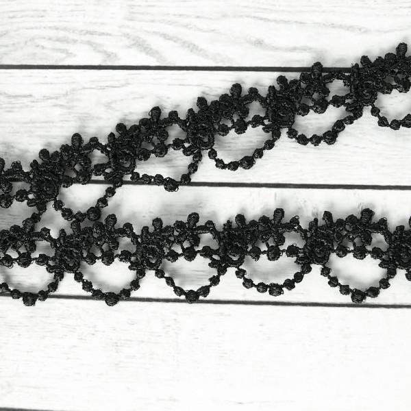 spitze borte spitzenborte rosen gothic schwarz ketten schmal