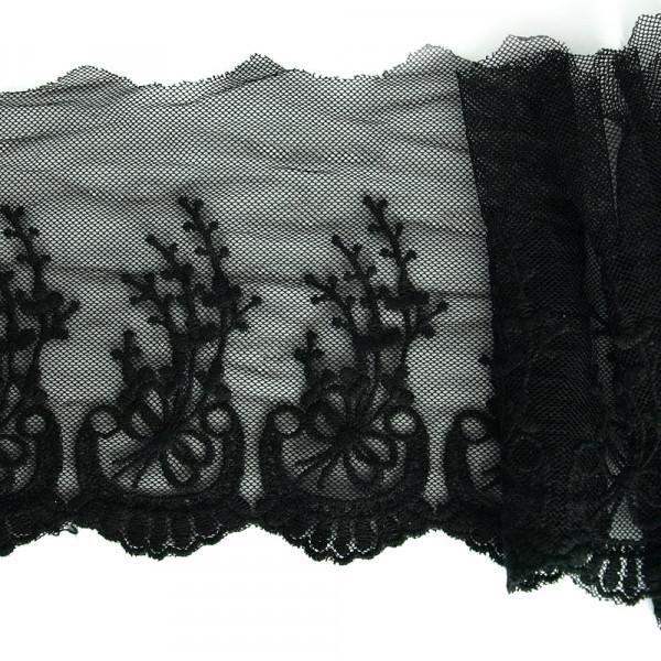 stickerei, tüll, tüllspitze, organza, fein, ranken, ornamente, großhandel, fabrik, megenrabatt, schwarz, kostüm