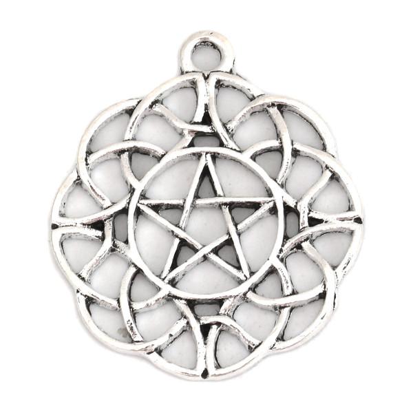 Anhänger Knoten Pentagramm 32mm