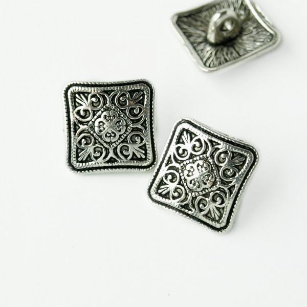 knopf, metall, quadrat, raute, vintage, edel, kaufen, historisch, gothic, material, kaufen