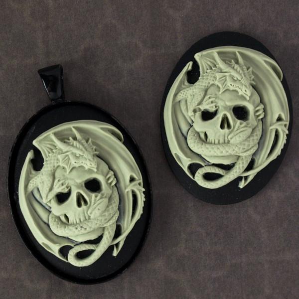 Kamee totenkopf skull drachen diy material 30*40