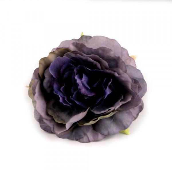 5 Kunstblumen Rosen Blau Lila 65mm