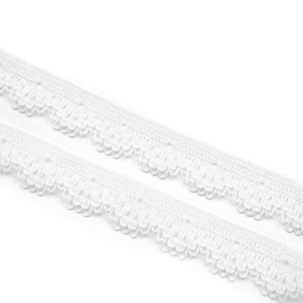 50m Schmale synthetische Spitze 12mm Weiß
