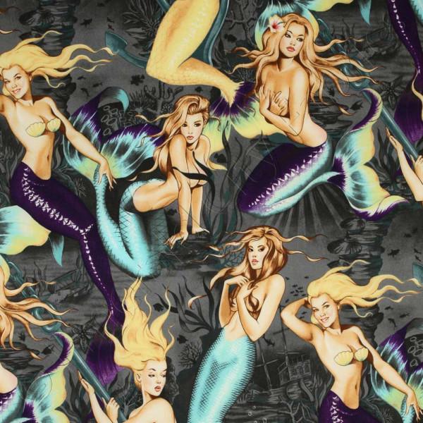Baumwollstoff Meerjungfrauen