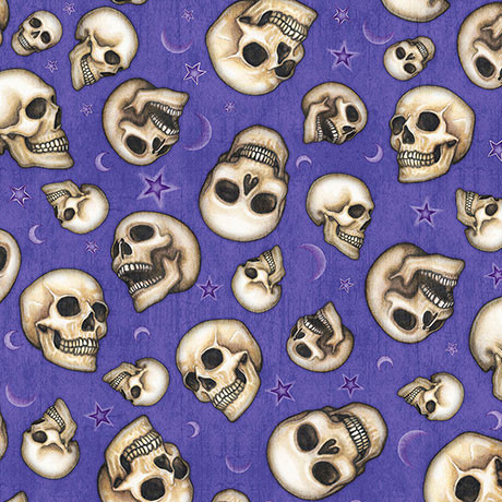 Vorbestellung: Webware Magie Skulls Lila