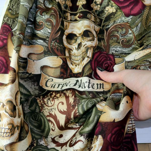 Baumwollstoff Skull Royal