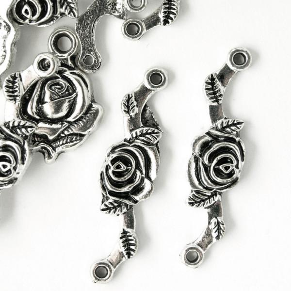 Schmuck verbinder rosen ranken silber kaufen material