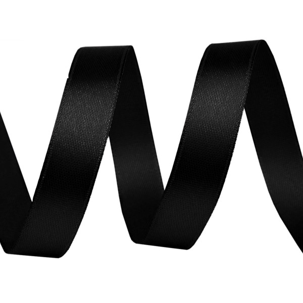 Satinband schwarz kaufen 9mm einzeln Meter
