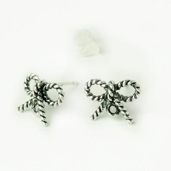 Ohrringe haken rohlinge schleife silber kaufen seil nautisch