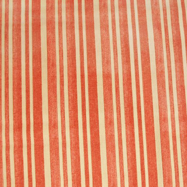 """Baumwollstoff """"Ticking"""" Streifen Rot"""