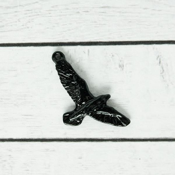 Charm Vogel Rabe Krähe schwarz