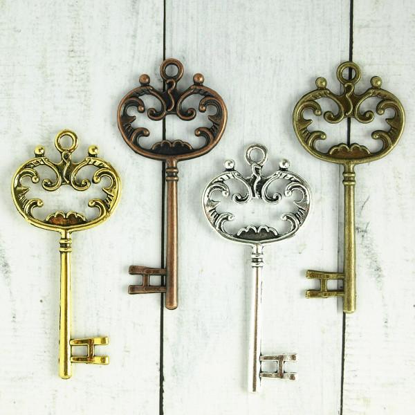 Schlüssel edel verziert 7cm