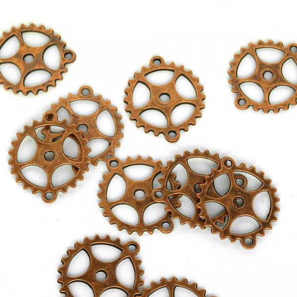 Zahnrad Steampunk Verbinder Altmessing Basteln Uhrenteile Schmuck Modellbau