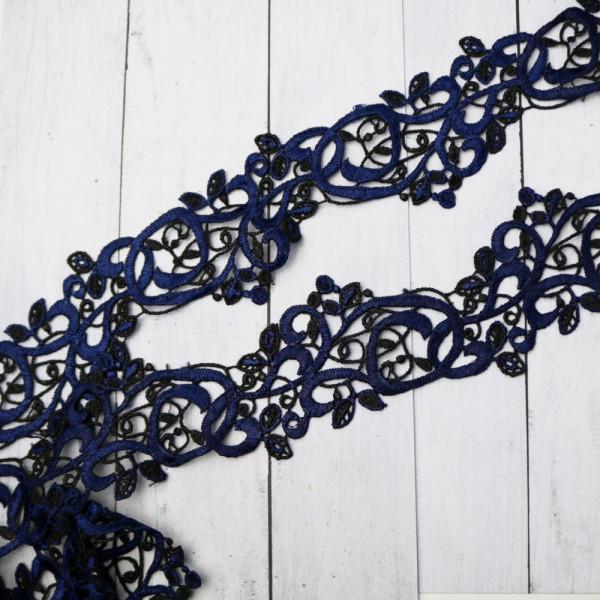 Spitze Blau Schwarz 5cm