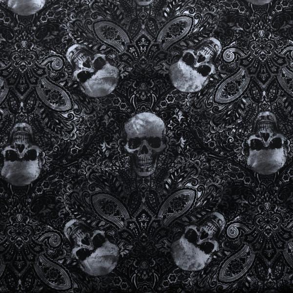 Baumwollstoff Lace Skulls Spitze