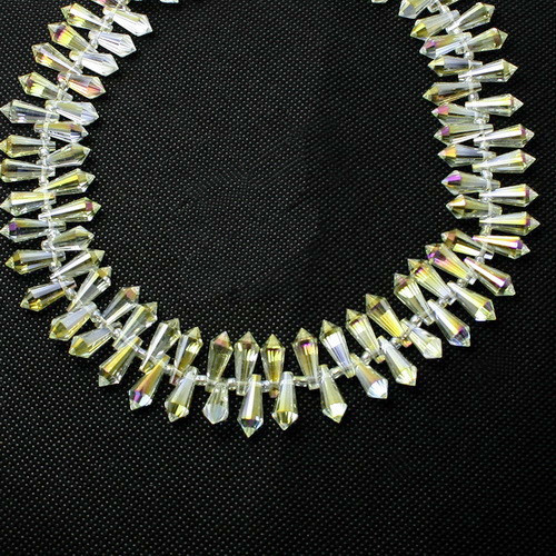Kristall Perlen 15*6mm Hellgelb