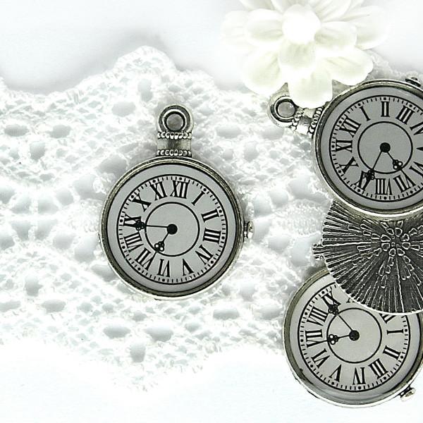 Anhänger Vintage Charm Uhr Schmuck basteln