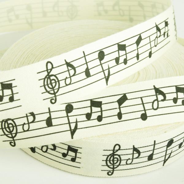 Baumwollband Borte Noten Musik kaufen Material