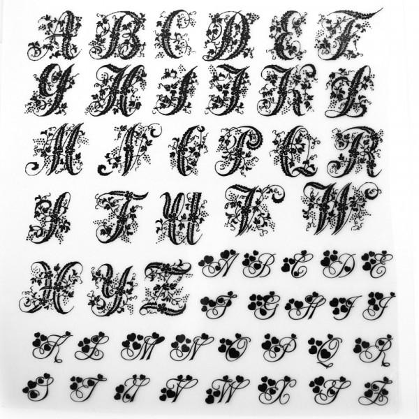 Bügelbilder Alphabet