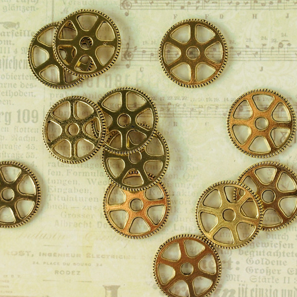 zahnräder steampunk gold basteln kaufen