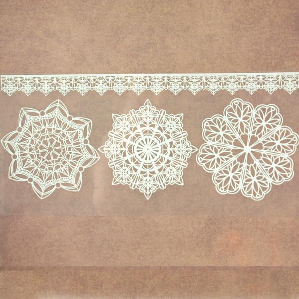 Bügelbilder Lace II Weiß