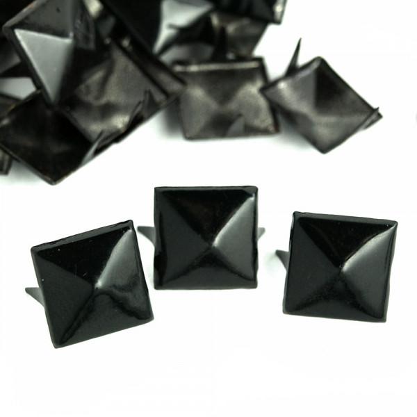 Nieten Pyramidennieten Farbe schwarz Großhandel im Paket kaufen
