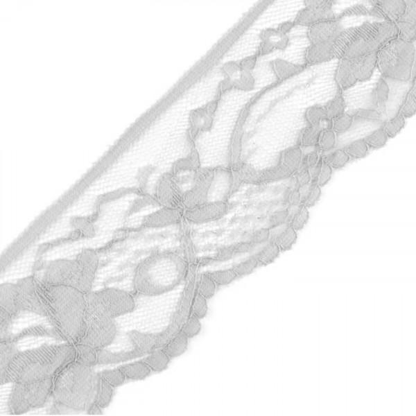 Graue Spitze elastisch 50mm