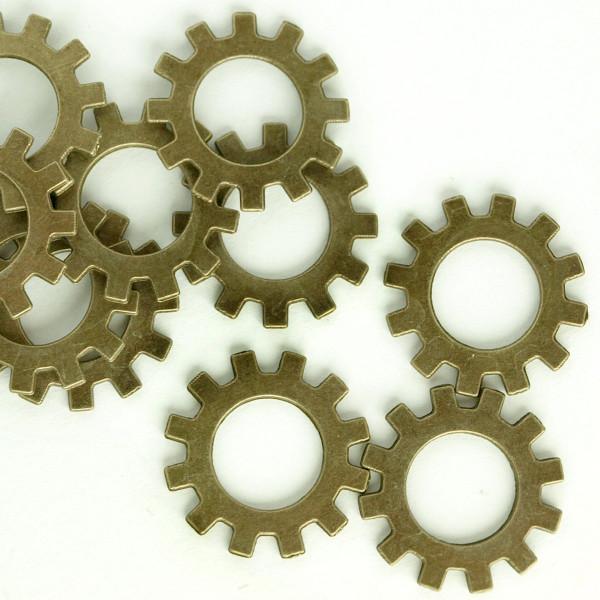 Zahnrad Steampunk Pack Altmessing Basteln Uhrenteile Schmuck Modellbau Ring