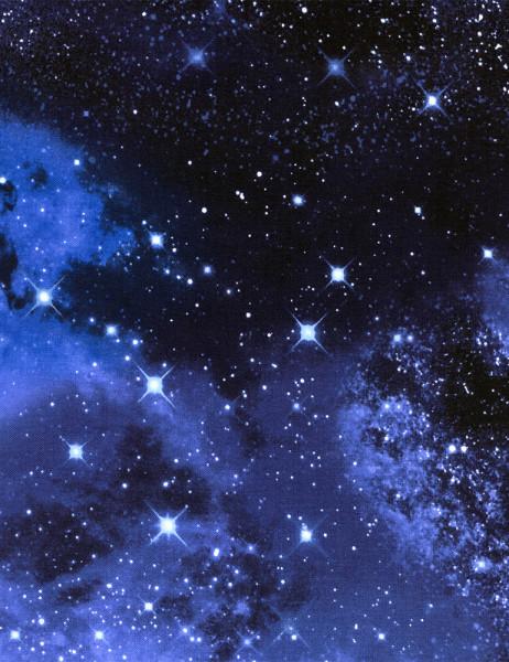 Baumwollstoff Galaxy Space Webware