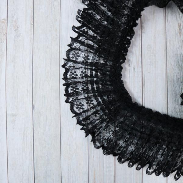 Rüschenspitze Schwarz 4,5cm