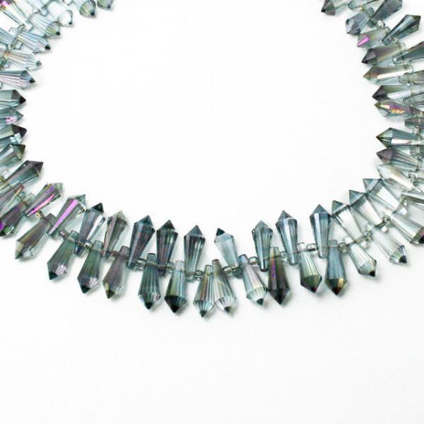 Kristall Perlen 15*6mm Violett