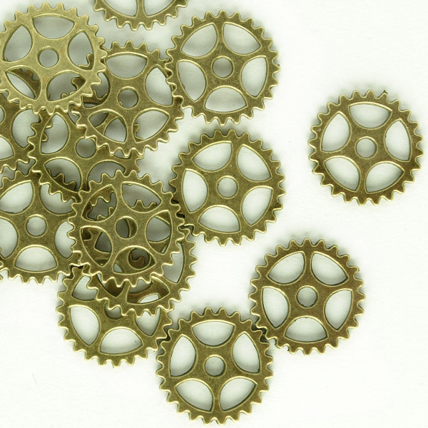 Zahnrad Steampunk Pack Messing Basteln Uhrenteile Schmuck Modellbau Ring