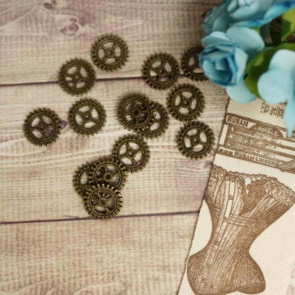 10 MINI Steampunk Zahnräder 10mm