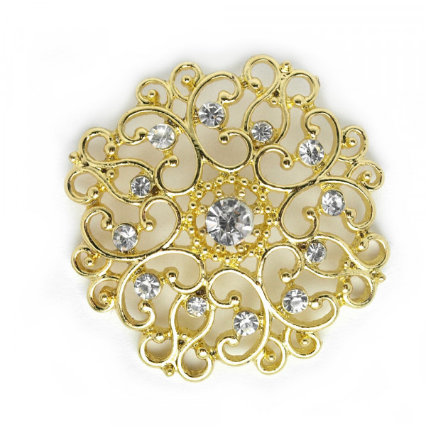 Knopf Ornamente XL Goldfarben 40mm