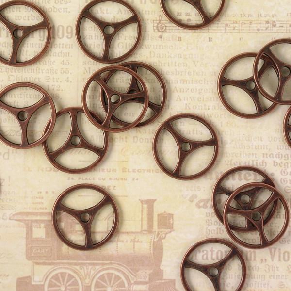 10 Steampunk Zahnräder VIII Kupfer
