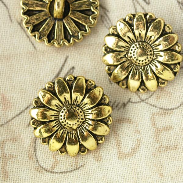 Knopf Blume Gold Material Nähen kaufen basteln